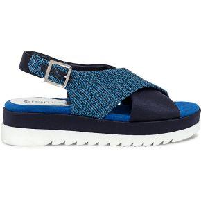 Sandale bleue à brides croisées bleu eram