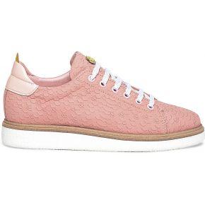 Sneakers cuir rose eram x smiley rose eram smiley