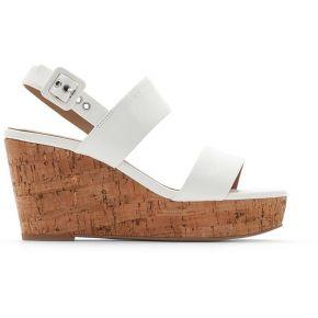 Sandales talon compensé anna 2 feminin blanc...