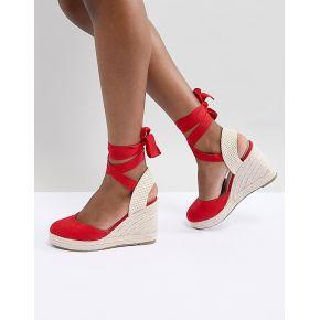 Femme pimkie - espadrilles compensées - rouge
