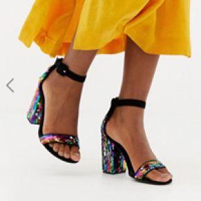 Femme new look - sandales à talon et sequins -...