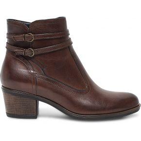 Boots cuir marron à double boucle marron eram