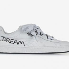 sports shoes 4b9c1 c94cd Basket heart script puma blanc noir 39 femme