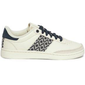 Tennis n'go shoes blanc cassé à tissage bleu...