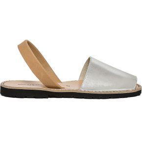 Sandale minorquines x eram argent et camel en...