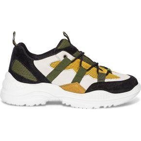 Dad shoes noire à mesh jaune noir eram