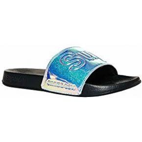 Superdry sandales de bain holographiques à...