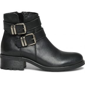 Boots motard cuir noir