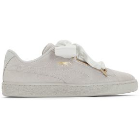 Baskets suede heart satin. puma beige