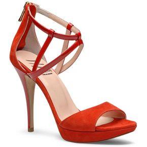 Sandales femme. evita shoes rouge
