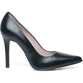 Escarpins pointus en cuir - noir. sacha noir