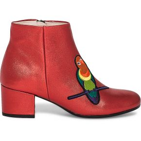 Boots noyce cuir rouge