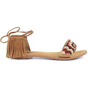 Sandales à franges brunes - sacha