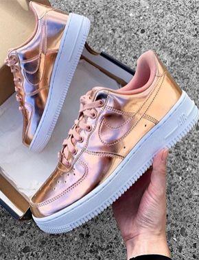 Nike Air Force 1 Vday GS Bq6980 600, Sneakers Basses Mixte